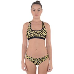 Ghepard Gold Cross Back Hipster Bikini Set