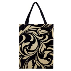 Black Adn Gold Leaves Classic Tote Bag