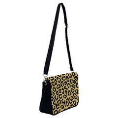 Ghepard Gold Shoulder Bag With Back Zipper