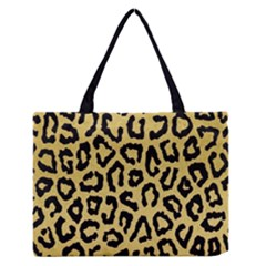 Ghepard Gold Zipper Medium Tote Bag
