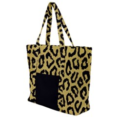 Ghepard Gold Zip Up Canvas Bag