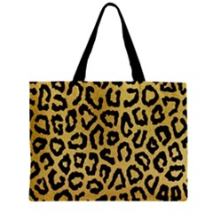 Ghepard Gold Zipper Mini Tote Bag
