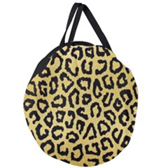 Ghepard Gold Giant Round Zipper Tote