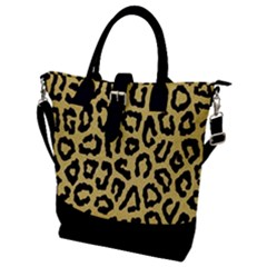 Ghepard Gold Buckle Top Tote Bag