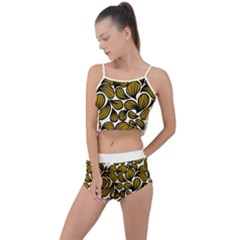 Gold Leaves Summer Cropped Co-ord Set