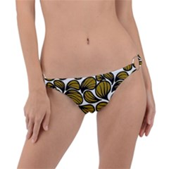 Gold Leaves Ring Detail Bikini Bottom