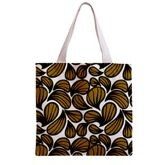 Gold Leaves Zipper Grocery Tote Bag
