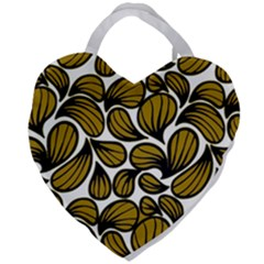 Gold Leaves Giant Heart Shaped Tote
