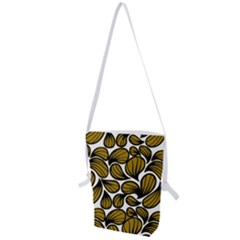 Gold Leaves Folding Shoulder Bag