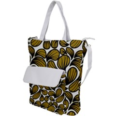 Gold Leaves Shoulder Tote Bag