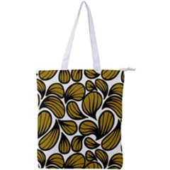 Gold Leaves Double Zip Up Tote Bag