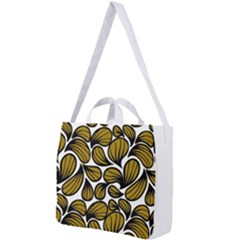 Gold Leaves Square Shoulder Tote Bag