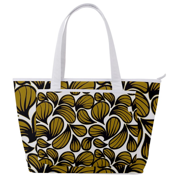GOLD LEAVES Back Pocket Shoulder Bag