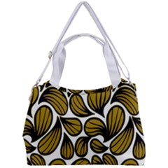Gold Leaves Double Compartment Shoulder Bag