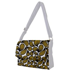 Gold Leaves Full Print Messenger Bag (l)