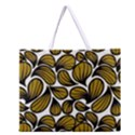 GOLD LEAVES Zipper Large Tote Bag View1