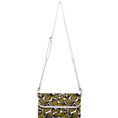 Gold Leaves Mini Crossbody Handbag