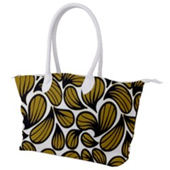 Gold Leaves Canvas Shoulder Bag