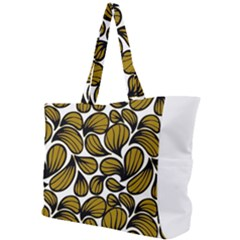 Gold Leaves Simple Shoulder Bag