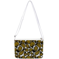 Gold Leaves Double Gusset Crossbody Bag