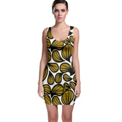 Gold Leaves Bodycon Dress