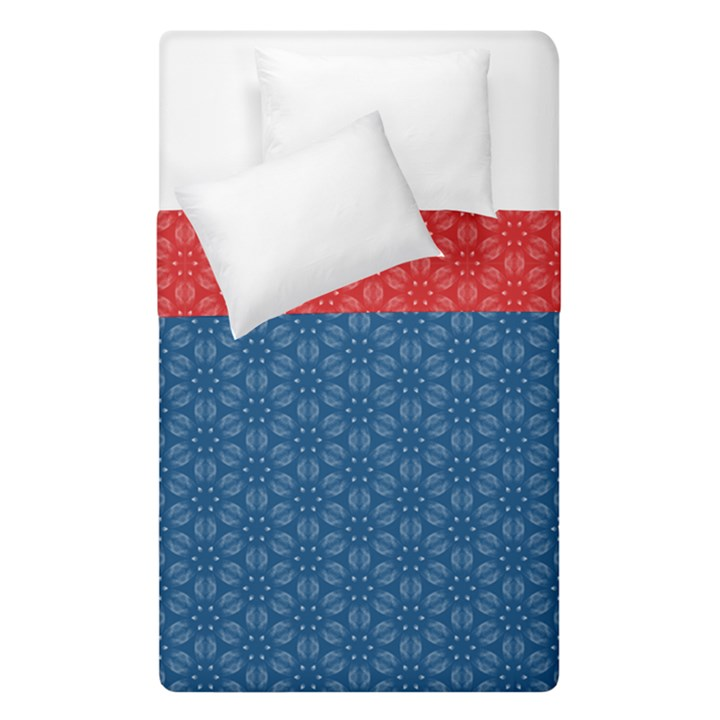 Classic Blue #6 + Fiery Red #9 Duvet Cover Double Side (Single Size)