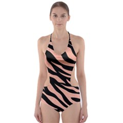Tiger Rose Gold Cut-out One Piece Swimsuit