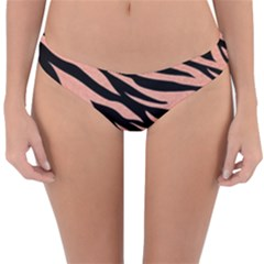 Tiger Rose Gold Reversible Hipster Bikini Bottoms