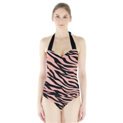 Tiger Rose Gold Halter Swimsuit