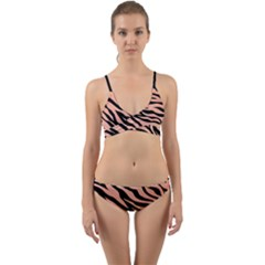 Tiger Rose Gold Wrap Around Bikini Set