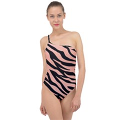 Tiger Rose Gold Classic One Shoulder Swimsuit