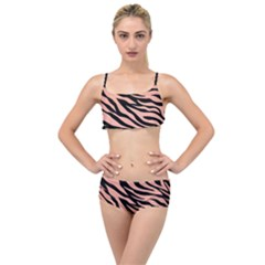 Tiger Rose Gold Layered Top Bikini Set