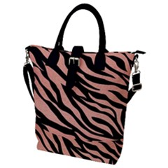 Tiger Rose Gold Buckle Top Tote Bag