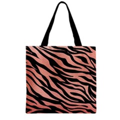 Tiger Rose Gold Grocery Tote Bag
