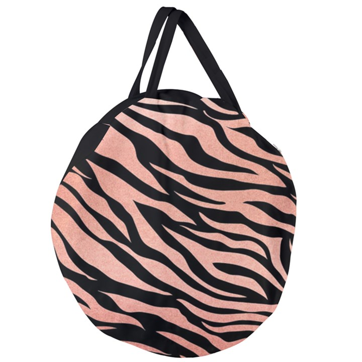 TIGER ROSE GOLD Giant Round Zipper Tote