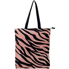 Tiger Rose Gold Double Zip Up Tote Bag