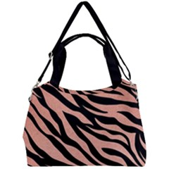 Tiger Rose Gold Double Compartment Shoulder Bag