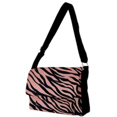 Tiger Rose Gold Full Print Messenger Bag (l)