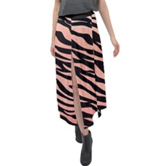 Tiger Rose Gold Velour Split Maxi Skirt