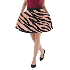 Tiger Rose Gold A-line Pocket Skirt