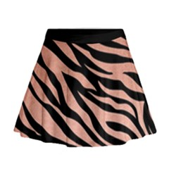 Tiger Rose Gold Mini Flare Skirt