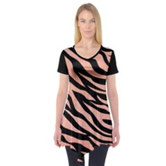 Tiger Rose Gold Short Sleeve Tunic