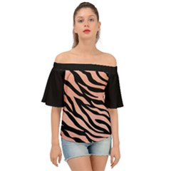 Tiger Rose Gold Off Shoulder Short Sleeve Top