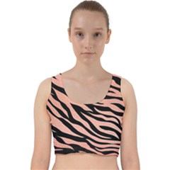 Tiger Rose Gold Velvet Racer Back Crop Top