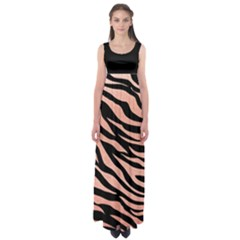 Tiger Rose Gold Empire Waist Maxi Dress by AngelsForMe