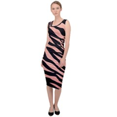 Tiger Rose Gold Sleeveless Pencil Dress