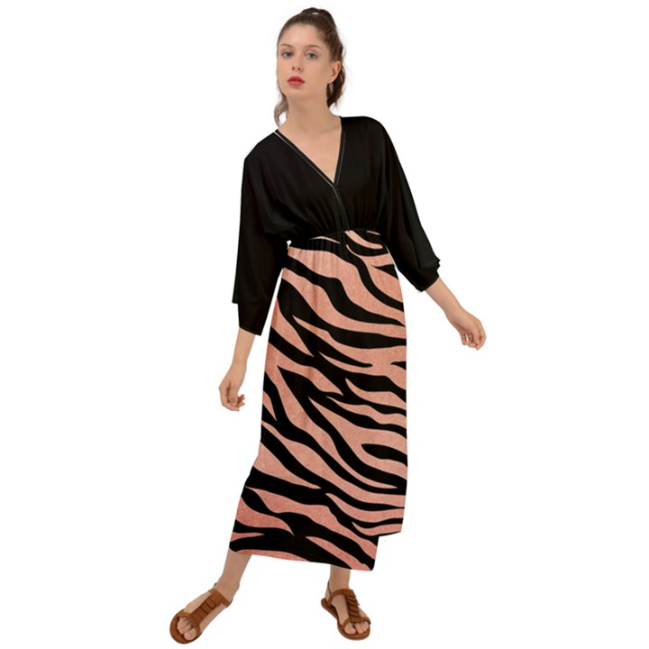 TIGER ROSE GOLD Grecian Style  Maxi Dress