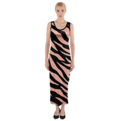 Tiger Rose Gold Fitted Maxi Dress by AngelsForMe