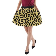 Ghepard Gold A-line Pocket Skirt