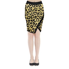 Ghepard Gold Midi Wrap Pencil Skirt